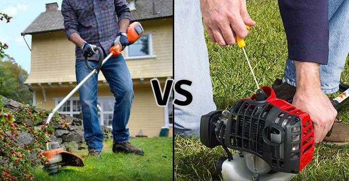 gas vs electric trimmer